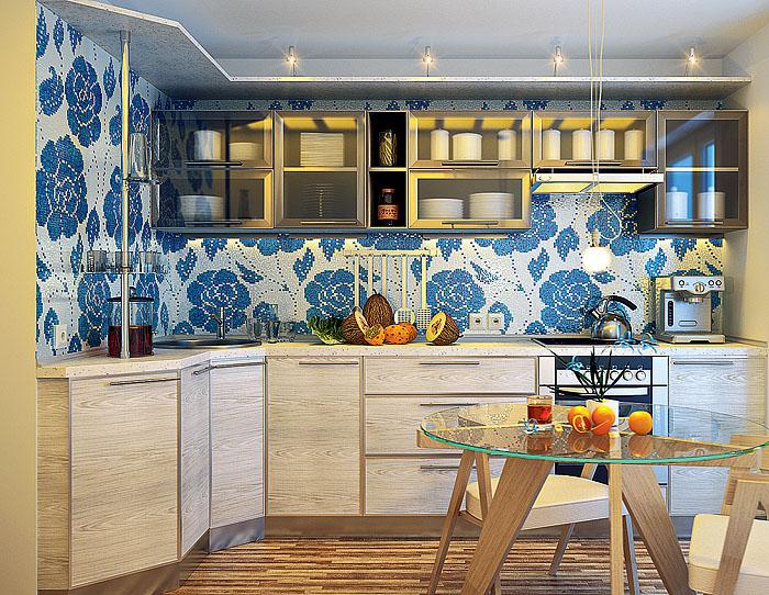 интерьер кухни 9 кв м в стиле прованс.